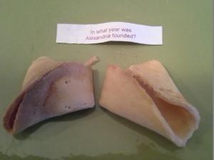 Alexandria history fortune cookie