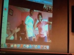 Eduardo & Delmi acknowledge their virtual audience