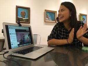 Spanish-English interpreter applauds Salvadoran's dance