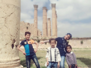 Mustafa family children in Jerash, Jordan