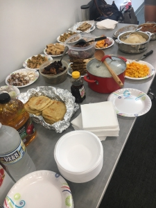 Items from our CDI international potluck