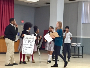 Global Storytelling Challenge story rehearsal