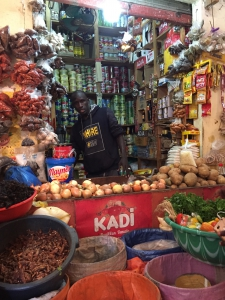 Dakar market merchant