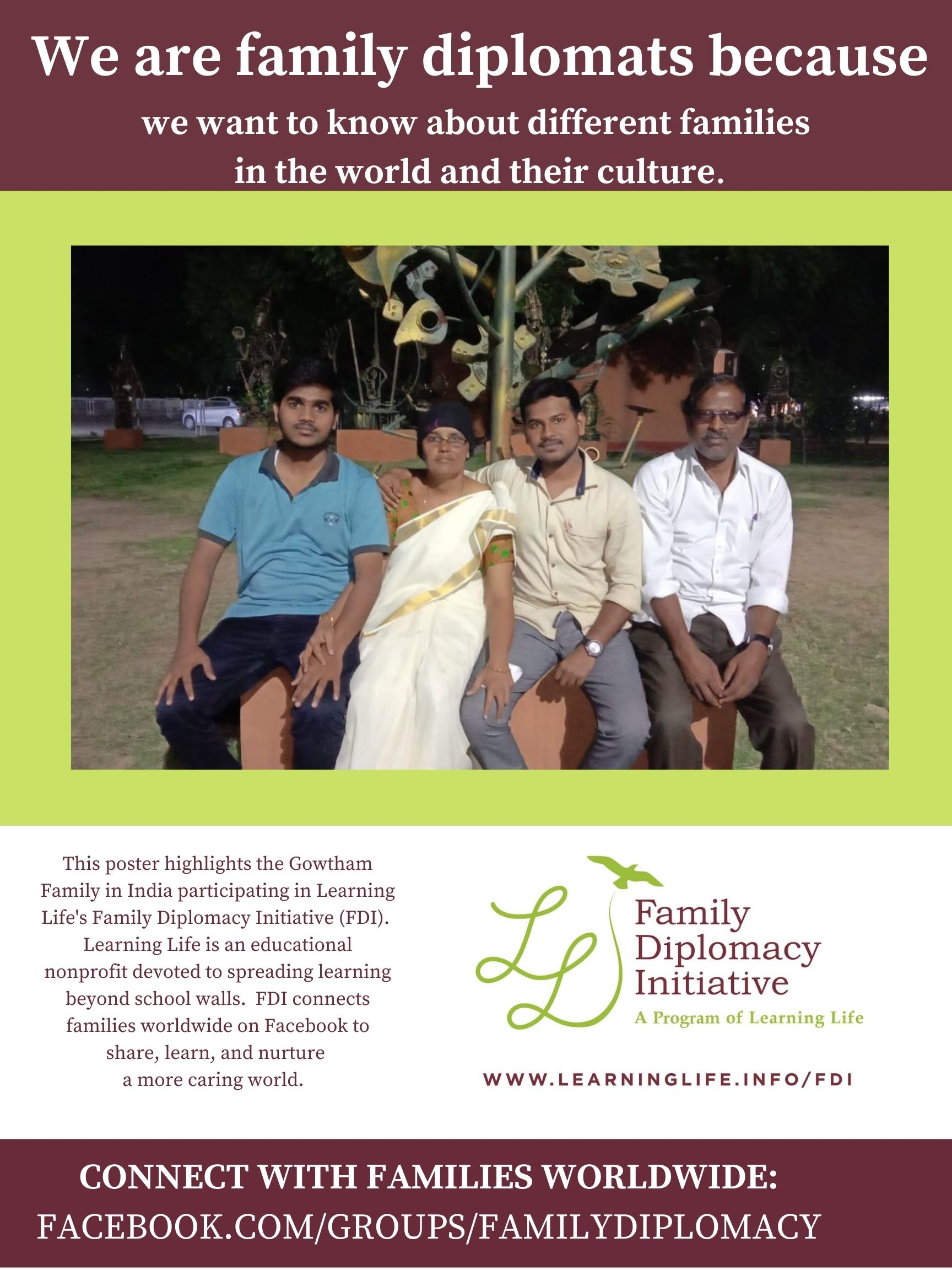 We Are Family Diplomats Poster